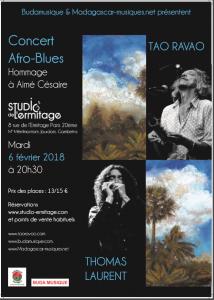 Tao Ravao au Studio de l'Ermitage - Mardi 6 février 2018