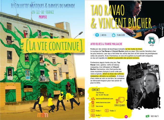 La vie continue – les propositions artistiques - Collectif Musiques et Danses du Monde en Île de France