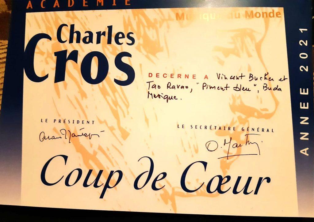 Coup de cœur Musique du Monde 2021 de l'Académie Charles Cros