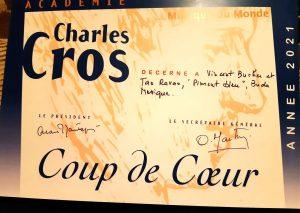 Diplôme Coup de coeur Musique du Monde 2021 de l'Académie Charles Cros