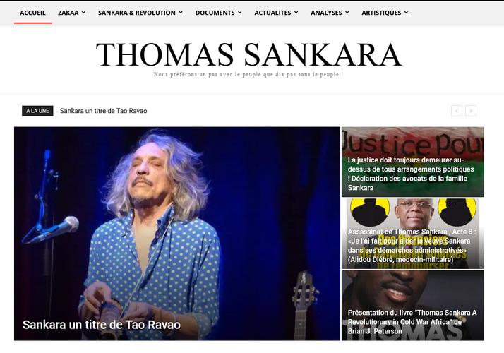 Inteview de Tao Ravao sur le site thomassankara.net à propos du morceau Sakara